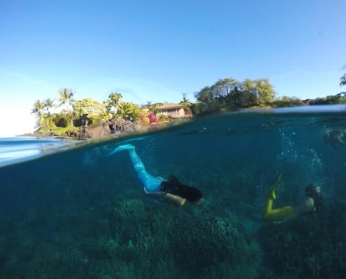 swimming underwater mermaid