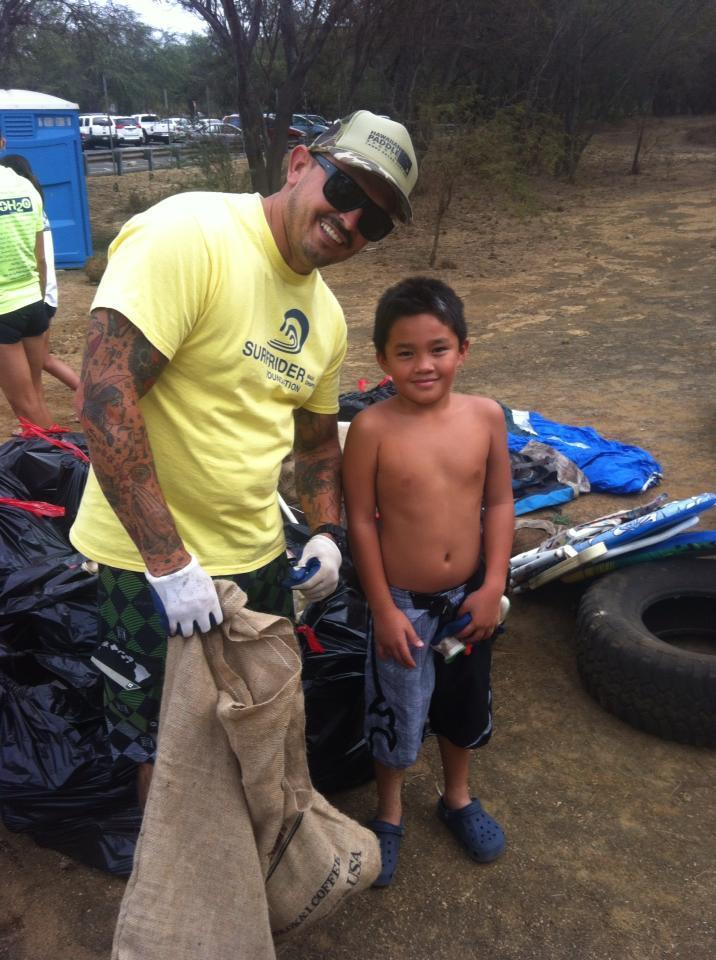 community beach cleanup